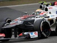 Серхио Перес в гонке на Гран При Китая 2012