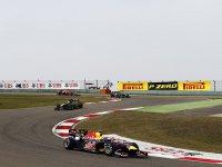 Марк Уэббер в гонке на Гран При Китая 2011