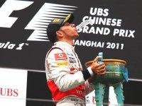 Льюис Хэмилтон, подиум на Гран При Китая 2011