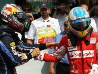 Фернандо Алонсо и Себастьян Феттель на Гран При Германии 2010