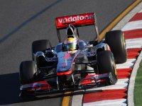 Льюис Хэмилтон, втрое место на Гран При Австралии 2011