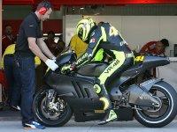 Валентино Росси на тестах Ducati в Валенсии