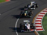 Серхио Перес в гонке на Гран При Австралии 2011