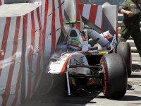 Серхио Перес, авария на Гран При Монако 2011