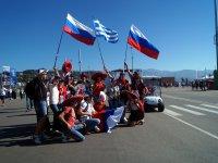 Болельщики на Гран При России в Сочи 2014