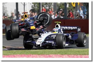 Авария Девида Култхарда и Алекса Вурца на ГП Австралии 2007